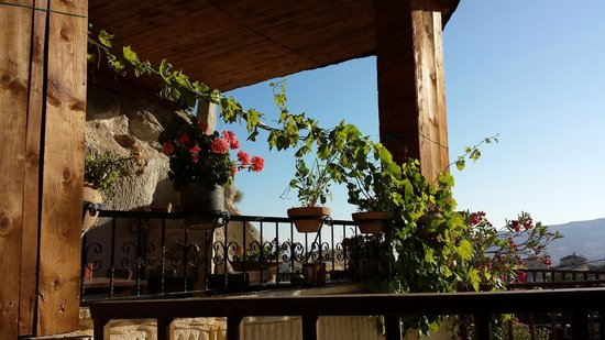 Kısmet Cave House: View from outdoor eating area