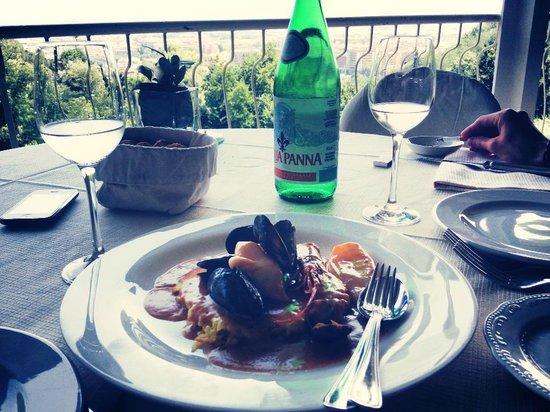 Ristorante The View: riso croccante alla crema di frutti di mare (2)