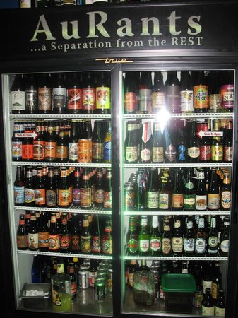Aurants: Bottled beer selection