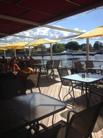 The Grill: Damn grill patio overlooking Port Severn