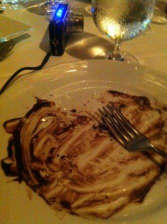 "Tribeca Grill: Empty plate ""Delicious"""