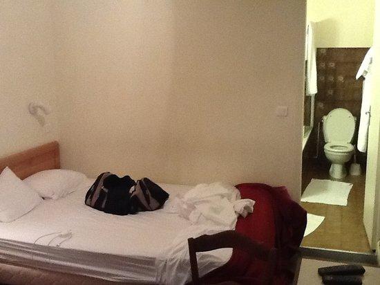 Hotel du Lion d'Or : baignoire et lavabo