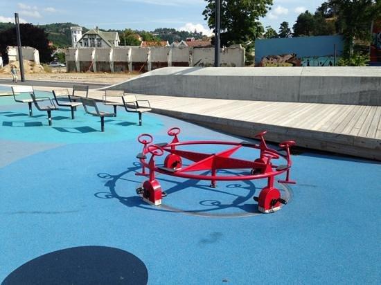 Mandal, Norway: cycle carousel