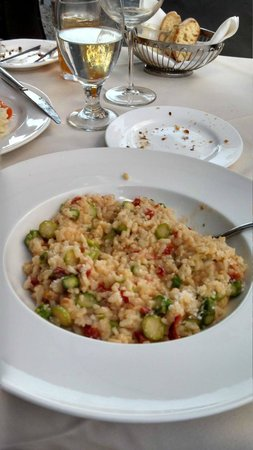 Rustico Restaurant & Pizzeria : My special Parmesan, Asparagus Risotto with sundried tomatoes and garlic!