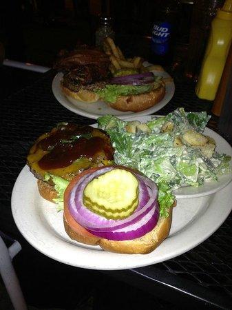 "Ithaca Ale House: ""Jerk Burger""  jerk seasoning ,jalapenos and BBQ Sauce Burger"