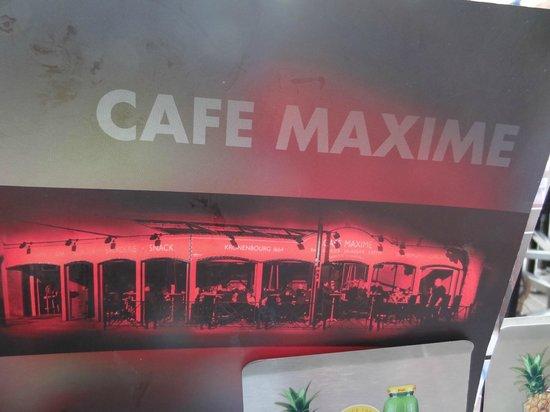 Café Maxime : De kaart