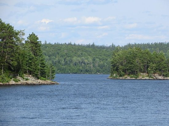 Kipawa, Canada: From the front porch of Cabin 8