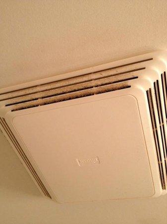 Quality Hotel & Suites: ventillation de salle de bain (très sale)