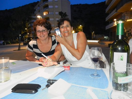 La Gambina : Met vriendin en deze keer witte wijn