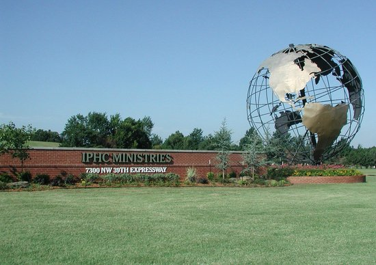 Bethany, OK: IPHC globe - International Pentecostal Holiness Church headquarters