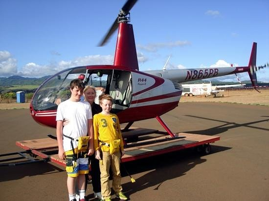 Inter-Island Helicopters - Tours: Our helicopter trip in Kuaui