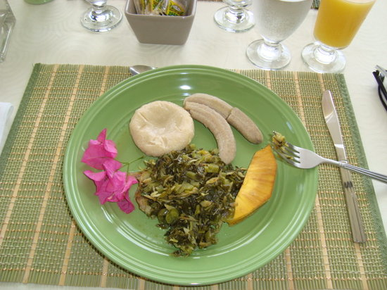 Mynt Retreat: desayuno de calaloo con salt fish