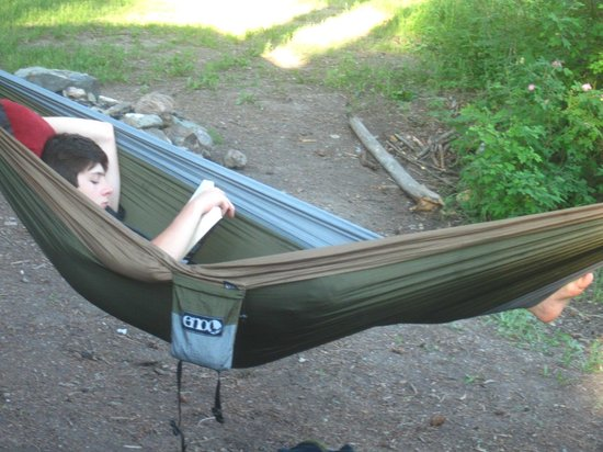 lake mary ronan lodge and resort  my son set up his backpacking hammock outside our my son set up his backpacking hammock outside our door and chilled      rh   tripadvisor