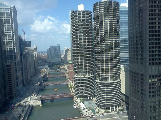 Wyndham Grand Chicago Riverfront: View from Room 3702