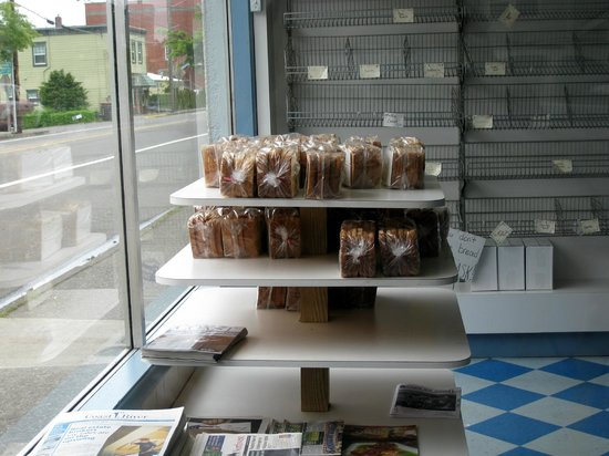 Empty shelves at Home Bakery