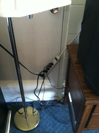 Knights Inn & Suites Canyon: nice fire hazard