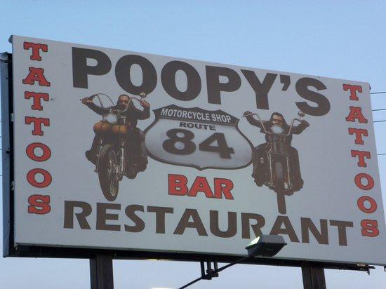 Poopy's Pub n' Grub: Poopy's Sign