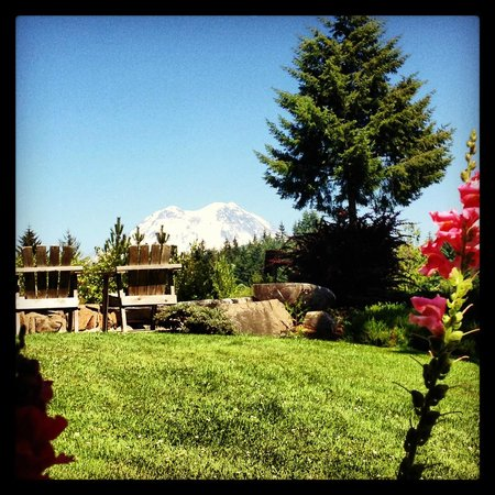 Rainier Mountain Lodge: View from porch