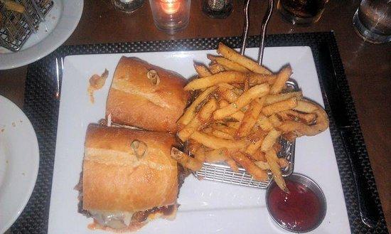 Park West Tavern: Smoked BBQ Brisket Sandwich