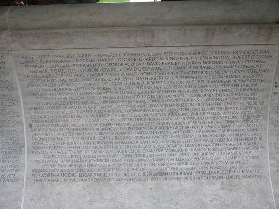 National Law Enforcement Officers Memorial: One Section of Memorial Wall
