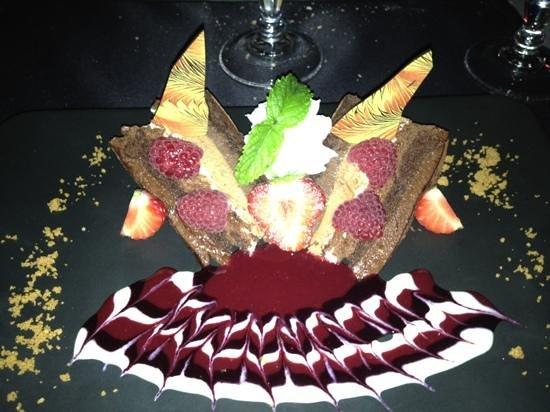 Le Cafe des Baux : dessert au chocolat