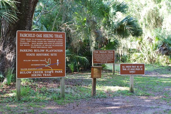 Bulow Creek State Park: Hiking Trail  - Sign and Map