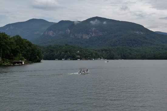 The Lodge on Lake Lure: View of lake from the sundeck