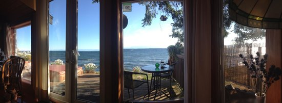 Bella's Beachfront B&B : View from the bedroom