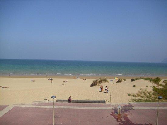 Aparthotel Playamar: Vista de la playa desde el hotel