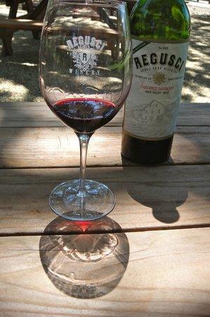 Regusci Winery : Bottle of Wine At Regusci