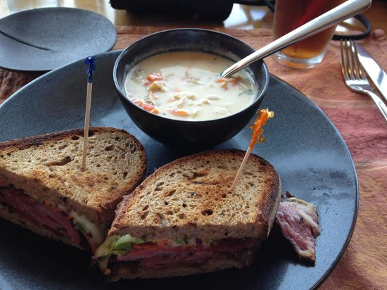 Turkey Red: Pastrami special with clam chowder