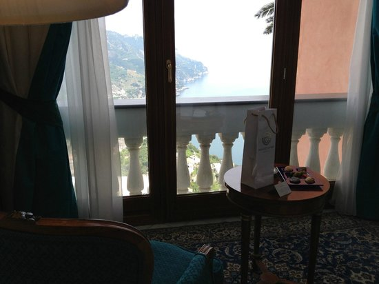 Palazzo Avino: 1st floor sea view room.