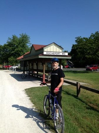 Katy Trail Bed & Bikefest B&B: rocheport, missouri, train depot