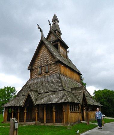 Heritage Hjemkomst Interpretive Center: Hopperstad church replica