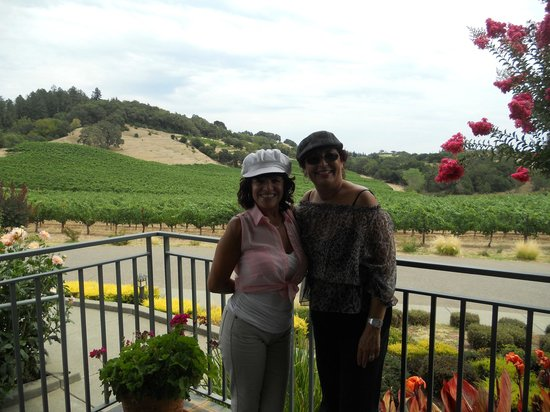 The Wine Carriage: Enjoying the beautiful scenery