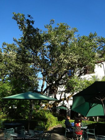 Benbow Historic Inn: View of Benbow from dinning patio