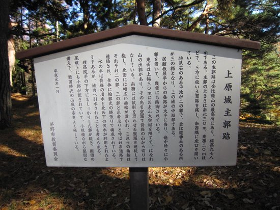 Remians of the Uehara Castle: 上原城 主郭跡