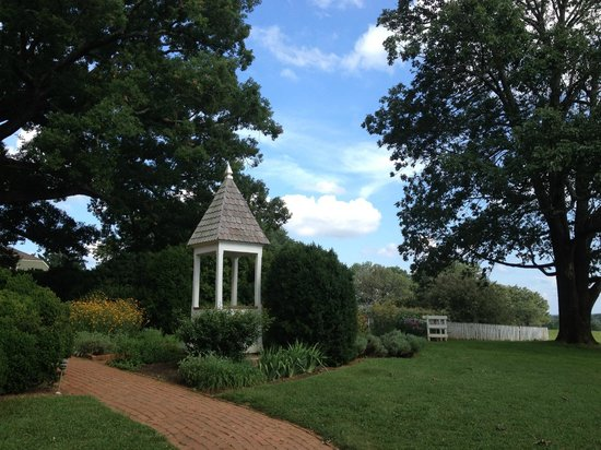 James Monroe's Highland: View of gardens and well