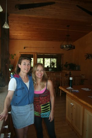 West Yellowstone B & B: Deborah (right) gave us several selections for breakfast.