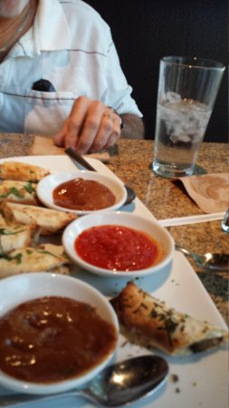California Pizza Kitchen: spring rolls with dipping sauces