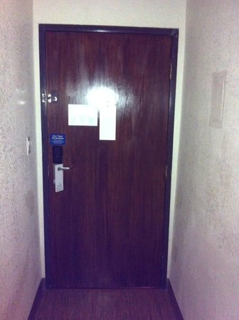 Motel 6 Los Angeles - Hollywood room door from the inside with double lock protection & room door from the inside with double lock protection - Picture of ...