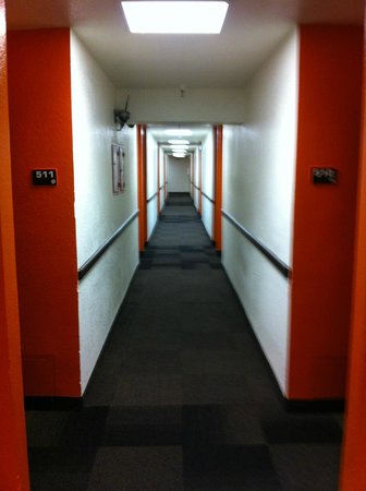 Motel 6 Los Angeles - Hollywood: 5th floor hallway corridor
