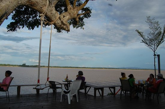 ChampasakWithLove: View of Mekong River from our table