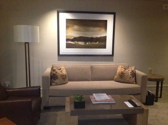 The Little Nell: Living room in our suite