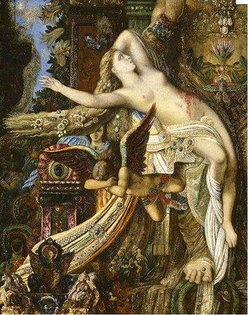 Musee Gustave Moreau : Pose lascive et offerte de la petite Léda, la cochonne...