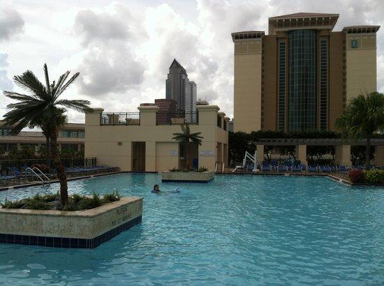 Tampa Marriott Waterside Hotel Marina Pool View Of Downtown