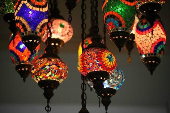 Maya Cafe Mediterranean Lifestyle: Beautifull Turkish Chandelier