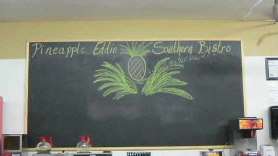Pineapple Eddie Southern Bistro: Blackboard