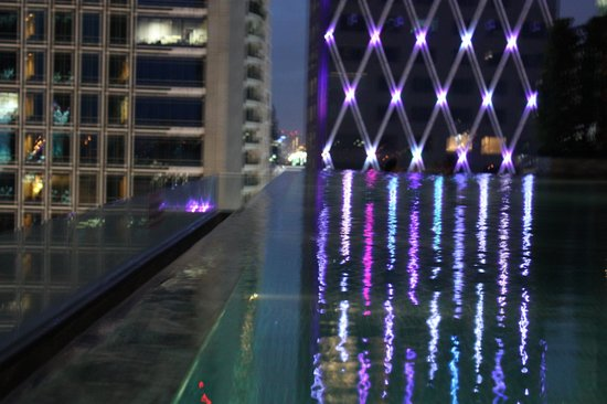 Infinity pool during night