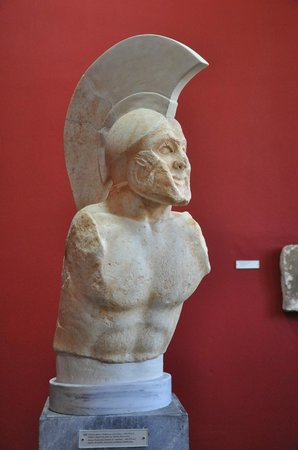 Archaeological Museum of Sparta: A hoplite called Leonidas ?!